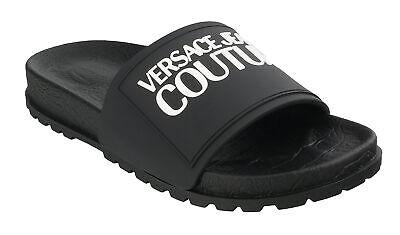 Versace Jeans Couture Black Signature Slide-