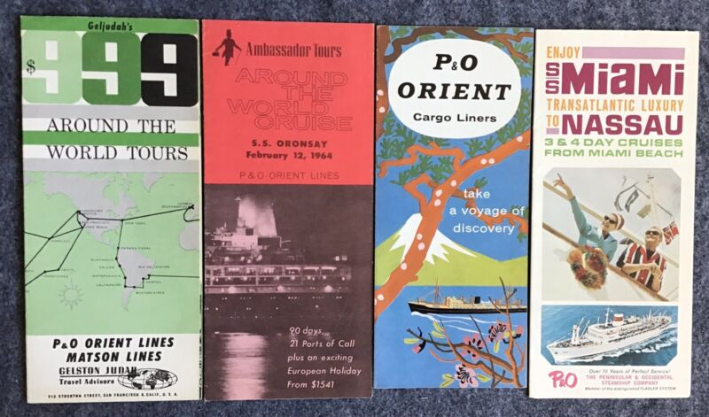 1960s P&O Orient Lines, Matson Lines, Oronsay, Cargo, SS Miami Brochures