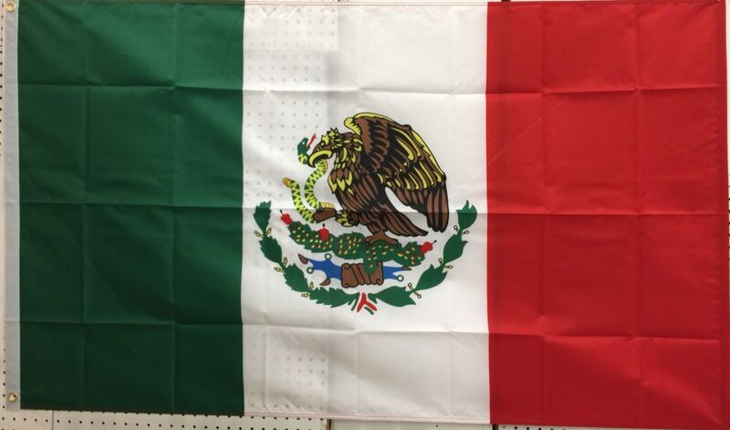 Mexico 3'x5' Flag / Bandera De Mexico 3'x5