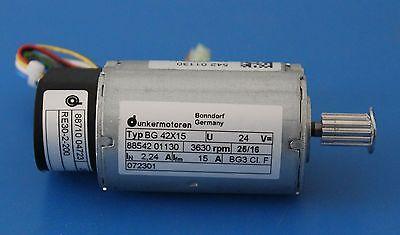 Bonndorf Dunkermotoren Bg42x15 Brushless Dc Motor 24v 3630rpm Wencodergearhead