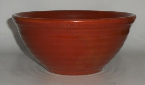 Vintage Bauer Pottery Ring Ware Red/Brown #18 Mixing Bowl