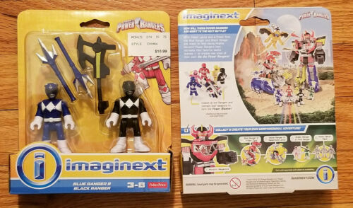 Imaginext - Power Rangers Blue & Black  - NEW