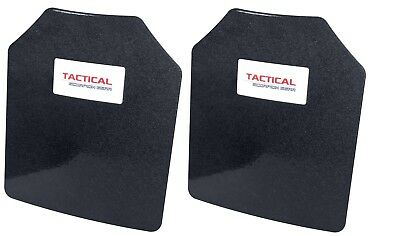 Tactical Scorpion AR500 Level III Steel Body Armor Pair Curved 10 x 12 Plates