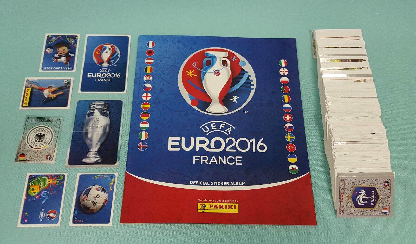 Panini Euro 2016 France EM 10/20/30/50/100  oder 200 Sticker aussuchen