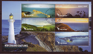 NEW ZEALAND 2013 COASTLINES MINIATURE SHEET FINE USED