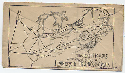 1900 Kennebunk ME allover reverse map ad cover [y1163]