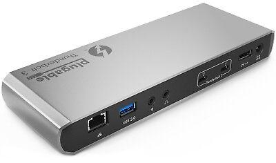 Plugable Thunderbolt 3 Docking Station Compatible with 2017/2018 MacBook Pro and Thunderbolt 3 PCs