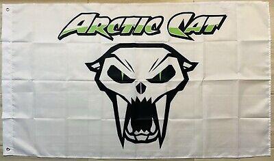 ARCTIC CAT VINTAGE FLAG BANNER DRAPEAU SNOWMOBILE MAN CAVE GARAGE 440 Jag long
