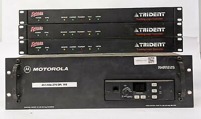 Motorola Rkr1225 With Radius R1225 And 3 X Trident Trunking Logic Controllers