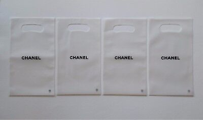New Authentic CHANEL Small Semi-Clear Plastic Gift Shopping Bags 10 1/2