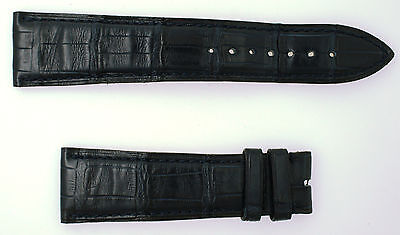 Authentic Blancpain Dark Navy Leather Watch Band Strap 22mm Lug 18mm Buckle