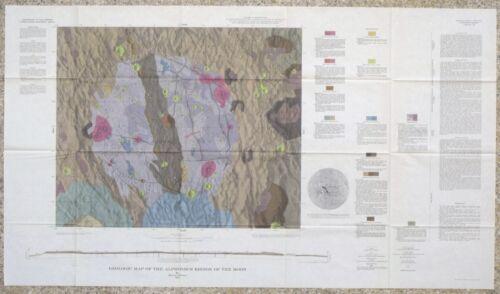 USGS APOLLO ALPHONSUS REGION LUNAR GEOLOGIC MAP, 1969, I-599 Scarce RANGER IX