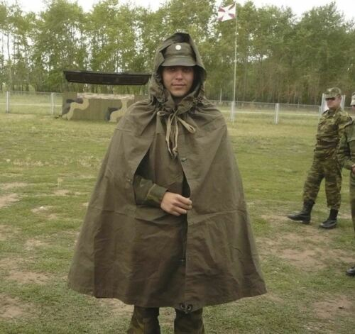 Original Soviet Russian Military Uniform Soldier Tent Raincoat USSR