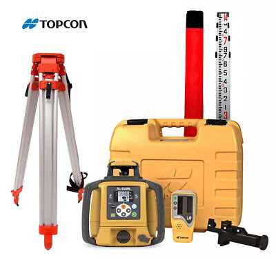 Topcon Rl-sv2s High Accuracy Dual Slope Laser Alkaline Battery Tripod 16 Rod