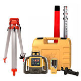 Topcon RL-H5A Self-Leveling Rotary Grade Laser Level W tripod and 14' Rod Inches