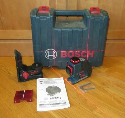 Bosch Gll3-80 Red Self-levelling 3-plane Laser Level Wm1 Bracket Case