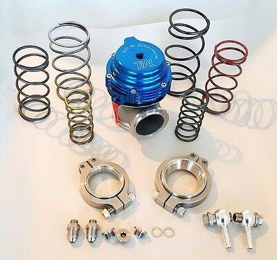 TIAL WASTEGATE MVS MV S 38MM V BAND EXTERNAL 03 TO 17 BAR ALL SPRINGS BLUE