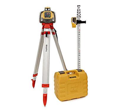Topcon Rl-h5a Construction Laser Level Db Kit W Tripod 16 Fiberglass Rod 10th