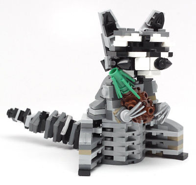 Constructibles Raccoon   Lego  Parts   Instructions Kit