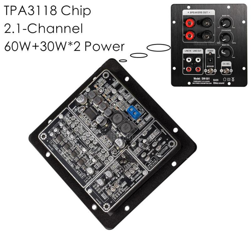 TPA3118 Digital 2.1 Channel Power Amplifier Board Stereo Subwoofer Amp Module