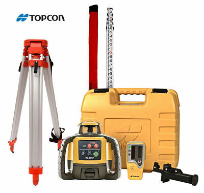 Topcon Rl-h5a Self-leveling Rotary Grade Laser Level W Tripod And 14 Rod Tenths