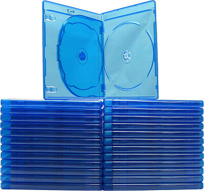 (25) BR3R12BL Triple Blu-Ray Standard Empty Replacement Boxes Cases 3 Disc 12mm