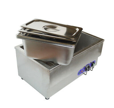 110v 3-pot Electric Food Warmer Bain Marie Buffet Equipment Stainless Steel