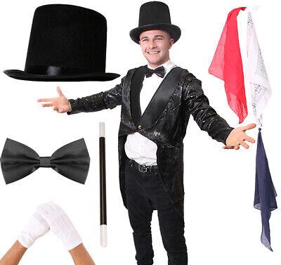 Ladies Magician Costume (ADULT MAGICIAN TAILCOAT COSTUME MENS LADIES MAGIC FANCY DRESS MAGICIAN)