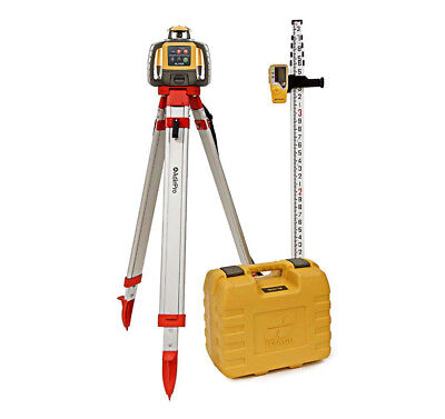 Topcon Rl-h5a Rotary Laser Kit Self Leveling 16 Grade Rod Inches And Tripod