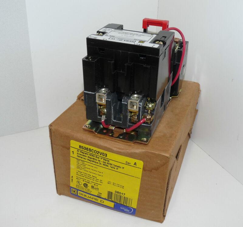 Schneider Electric Square D 8536SCO2V03 Magnetic Motor Starter NEMA 1P 600V 36 a
