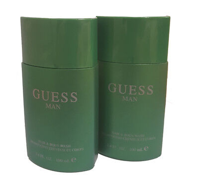Guess Man Hair and Body Wash Shower Gel 3.4 oz. ( Pack of 2 - Man Shower