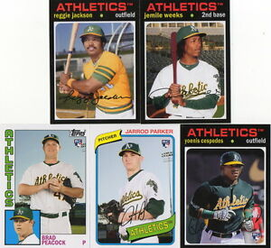 2012 Topps Archives Oakland Athletics team base set 5