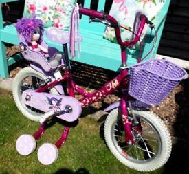 Raleigh Molli bike 14 inches girls