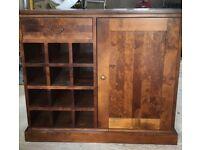 Mahogany effect wine rack sideboard
