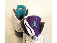 PERFECT & RARE Pair of Nike Air Jordan 5 Retro Grape UK 8 UK8 2013 VERY RARE Deadstock White 1 3 4