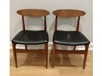 2x Vintage Mid-Century dining chairs