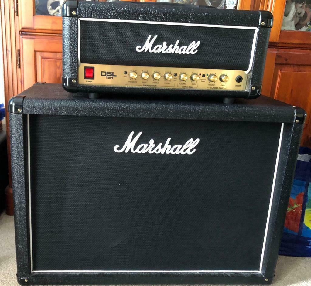 *PRICE DROP* Marshall DSL15H Guitar Amplifier Head & MX212 Speaker Cabinet  | in Christchurch, Dorset | Gumtree