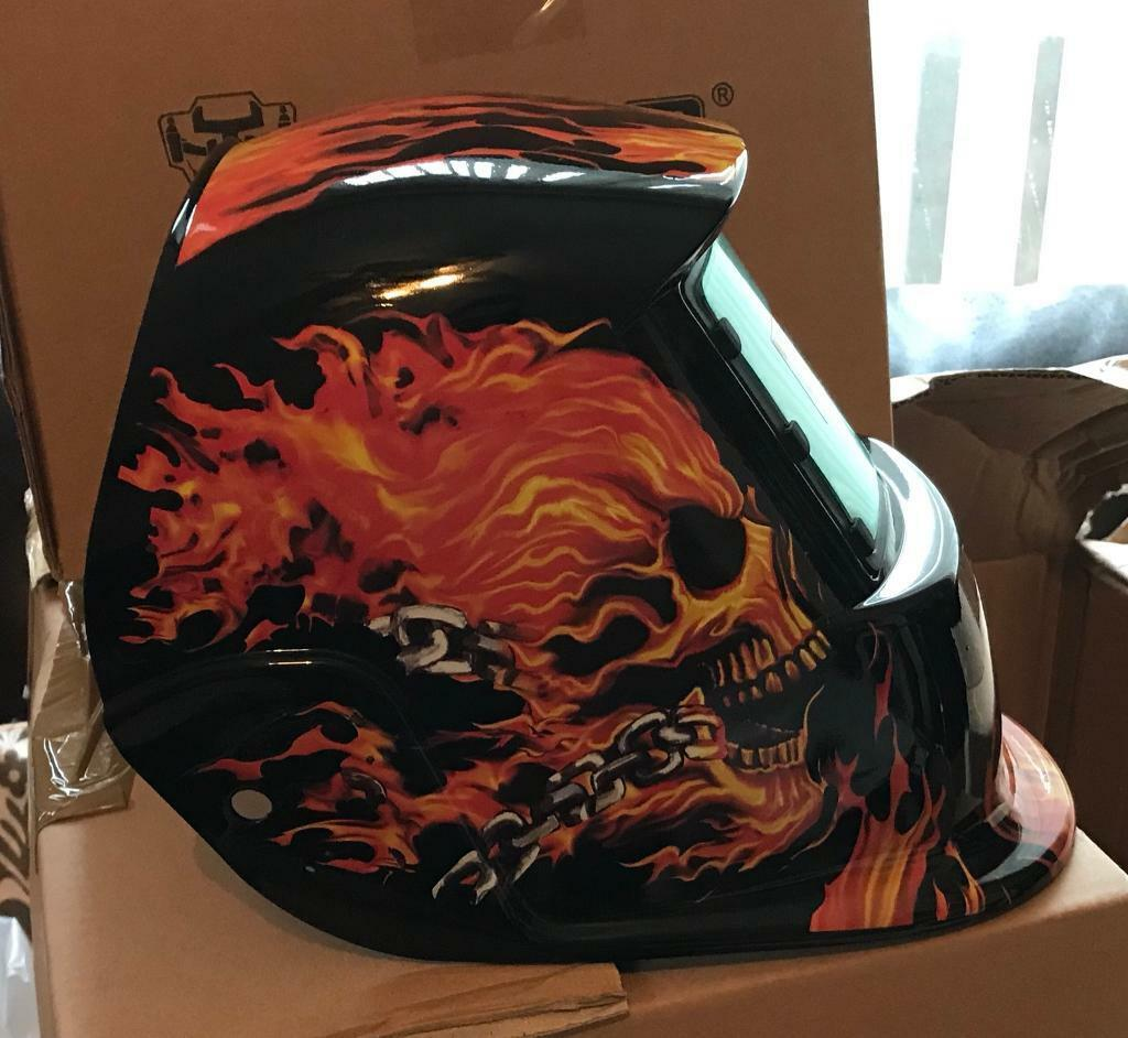 Skull solar auto darkening welding mask