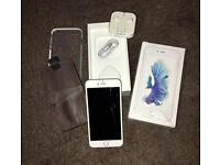 iPhone 6s Plus Silver 64GB. & 2 cases