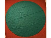 Forest / Dark Green Shimmery Rose Floral 173.5cm Round / Circular Tablecloth / Table Cloth Tableware