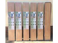 Natural Beech click laminate wood flooring £3/sq m, 5 unopened packs + extras