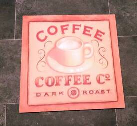 "HOUSE CLEARANCE | ""Coffee Co Dark Roast"" Wall Hanging 
