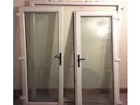 Double Patio doors with design for sale
