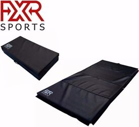 FXR SPORTS 6FT/8FT BLACK FOLDING CRASH GYMNASTIC FITNESS MATS GYM MAT PHYSIO
