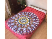Indian Bedspread Bedding Throws Bed Wall Tapestry Wall Hanging Mandala Hippie