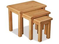 New Salisbury Erne Oak Large Nest of Tables Only £159 get yours today