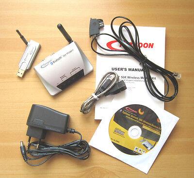TYPHOON 20006 Bluetooth 56K Wireless Modem Kit Modem USB Adapter Netzteil in OVP 56k, Bluetooth