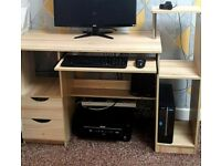 Computer Desk, 2 Drawers, pull out keyboard shelf