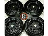 """18"""" Dare DR- RS Alloys 5x112, 5x100 matt black, almost new, tyres as new."""