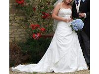 IVORY RONALD JOYCE DESIGNER WEDDING DRESS –STYLE 55026 'PATRICIA'